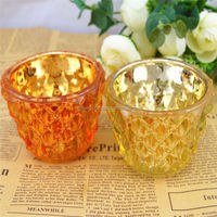 Modern Ceramic Candle Holder With Glass For Home Decoration