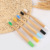 eco-friendly natural 100% biodegradable child bamboo toothbrush