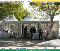 Outdoor exhibition event easy set up gazebo tent/ PVC pagoda tent for promotion