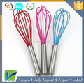 Kitchen Non-Stick Manual Egg Beater / Balloon Whisk Stainless Steel Silicone Egg Whisk