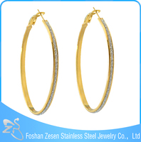 ZS17238 stainless steel premier large one gram gold earrings designs jewelry