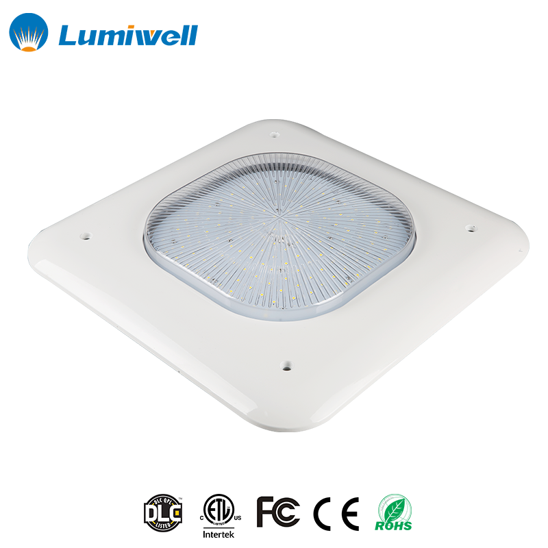 Chinese manufacturer outdoor fixture high power DLC ETL LED gas station canopy light