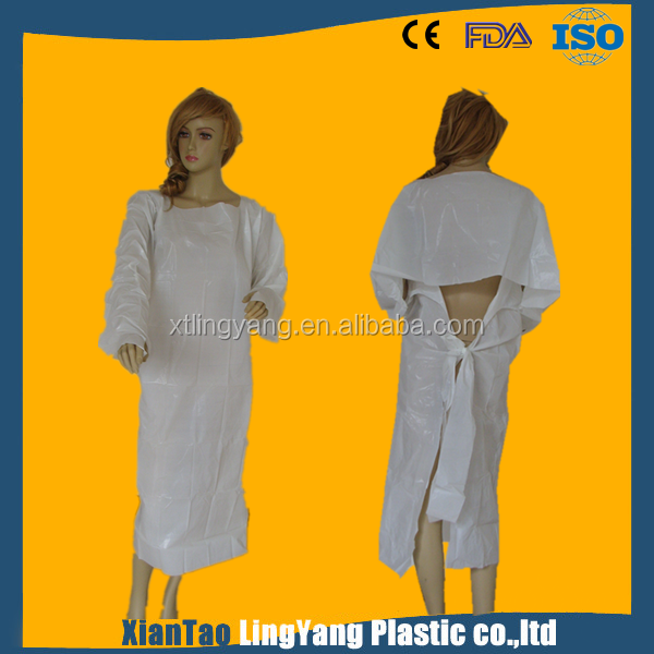 Wholesale hospital disposable CPE isolation gown