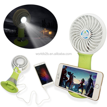 Multifunction usb fan & led flash light power bank rechargeable desk mini usb fan