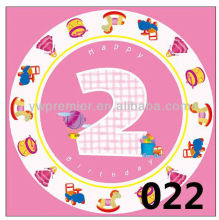Girl`s 2nd brithday party plates