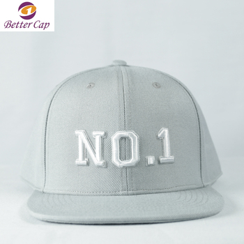small quantity minimum order accept high quality 3d embroidery snapback hip hop cap