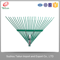 High Quality Plastic Coated Garden Spring Steel Rake Tines