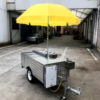 waffle carts trailer for hot dogs food mobile