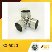 Stainless Steel 3 Way Pipe Connector Three-Way Handrail Connector