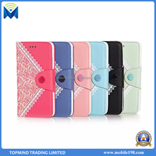 Korean Style Lace mobile phone wallet case for iPhone 6 Plus