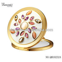 Gold Plated High Quality Compact Cosmetic Mirror