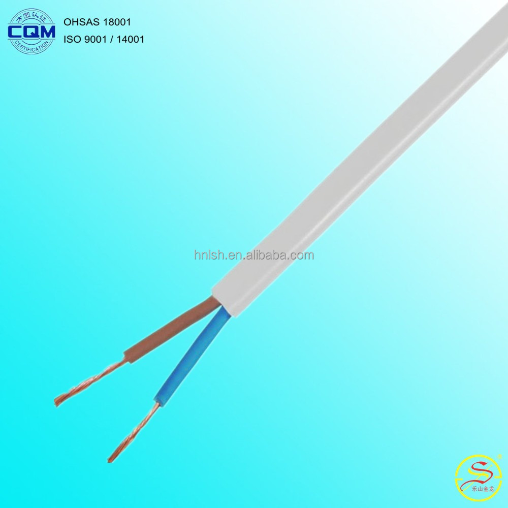 Flat or circle Flexible Copper Cable Wire with PVC Insulation