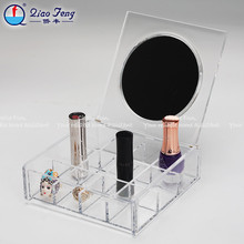 Worldwide sales aclyric makeup organizer with mirror acrylic cosmetic organizer