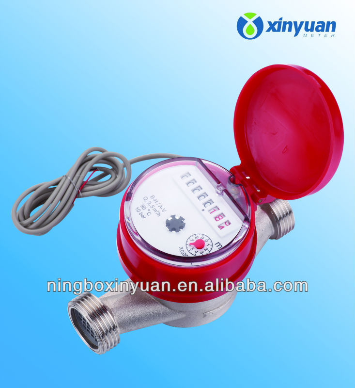 single jet dry type vane wheel water meter with reed switch option