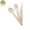 restaurant disposable wooden cutlery spoon fork knife set