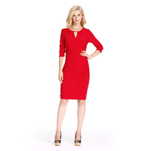 2018 Latest Red Designer One Piece women Casual Dress