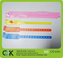 One off plastic wristband bracelet for identification