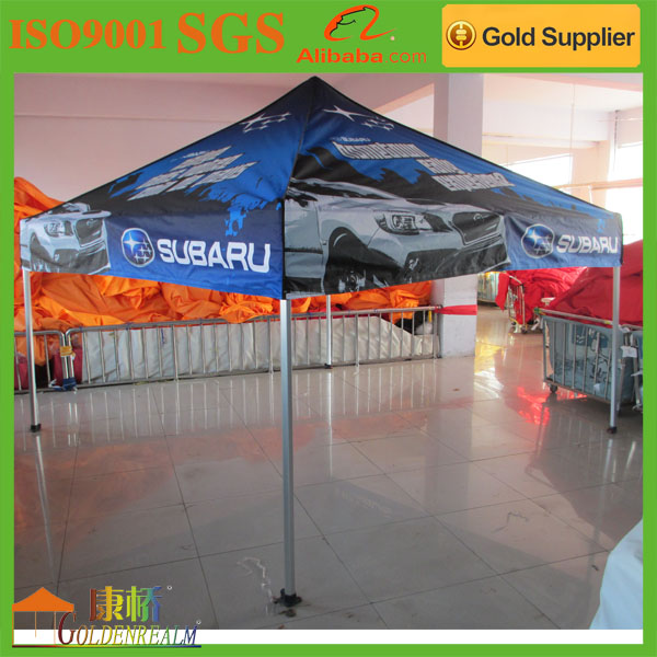 foldable wind resistant pop up tent canopy tent with waterproof polyester top cover