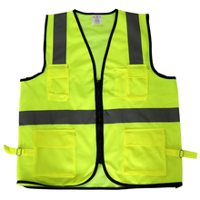 High Visibility Night Reflective Vest Customized <strong>Safety</strong> Running Vest Reflective Vest Lime