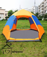 Double deck automatic rain proof tent Six corner camping tent large family tent outdoor