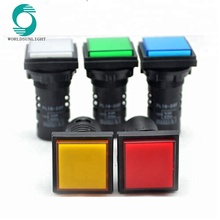AD16-22F mounting size 22MM Red/Green/Yellow Square Pilot Lamp,LED lamp,indicator light