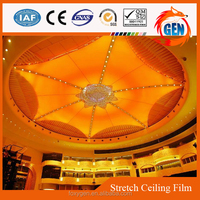 china plastic factory directly insulated flower design ceiling
