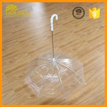 New transparent pet umbrella for dog puppy dry and comfortable in rain high quality dog umbrella
