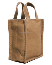 Small Sized 100% Recycled 16oz Cotton Canvas Grocery Tote Bag