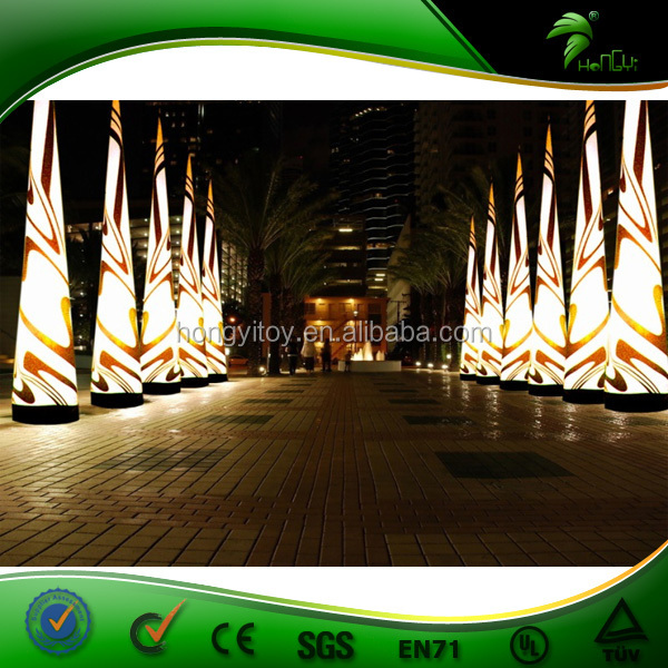 New High Quality Inflatable Lighting Cone For Dectoration Inflatable LED Column Balloon