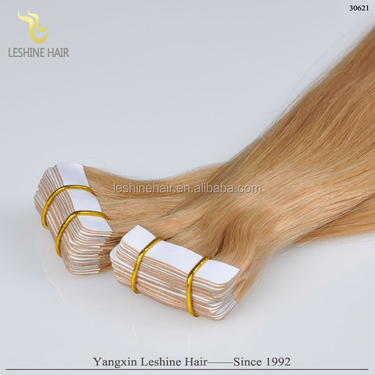 Brazilian skin weft seamless tape remy hair extensions two tone color human remy straight hair two tone remy hair extension