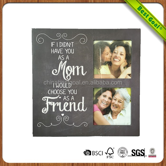 Wall collage Family Love mdf craft wooden photo frames