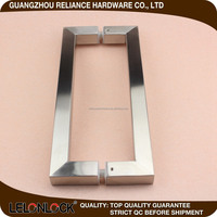 Wholesale high glass Door back to back Pull Handle with 600 / 00 / 1200 mm ect customized length and different diameter
