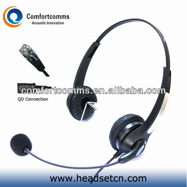 Super quality call center headphone with adapter rj11 jack headset and QD cable available HSM-902NPQDRJ