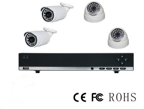 China factory Manufacture ahd dvr kit 4ch 720P HD AHD dvr cctv dvr kit dome cameras with dome camera with microphone connector