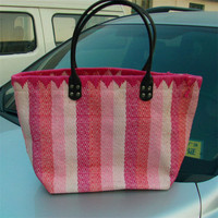 Manufacturers selling straw material and lady contract color bag