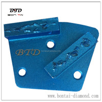 Split PCD grinding pad for concrete epoxy floor coating removal