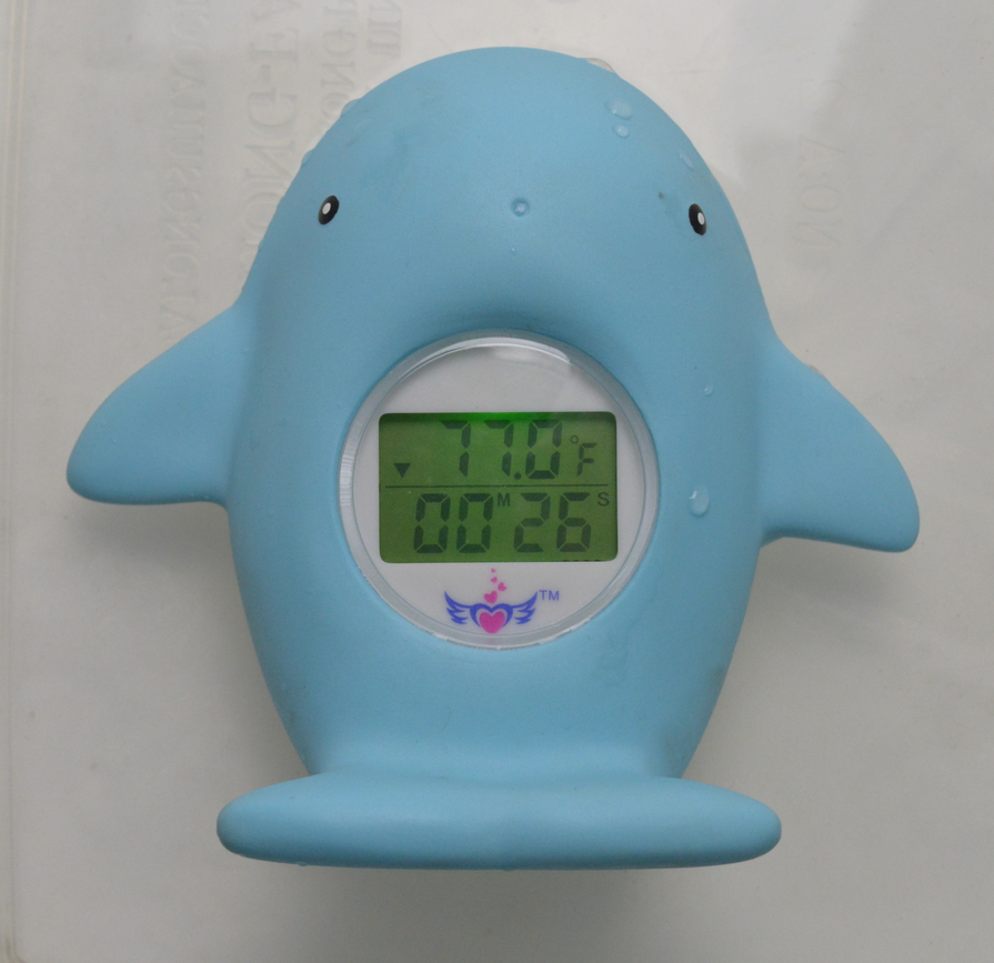 2017 ABS plastic yellow duck water thermometer for the zoo & marine museum water pool temperature meter