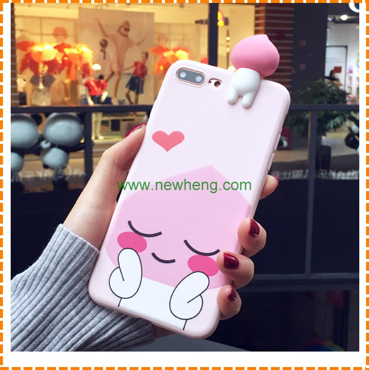 China Manufacture 3D Animal Silicone Cute Cartoon Phone Cover Case for Iphone 6 6 plus