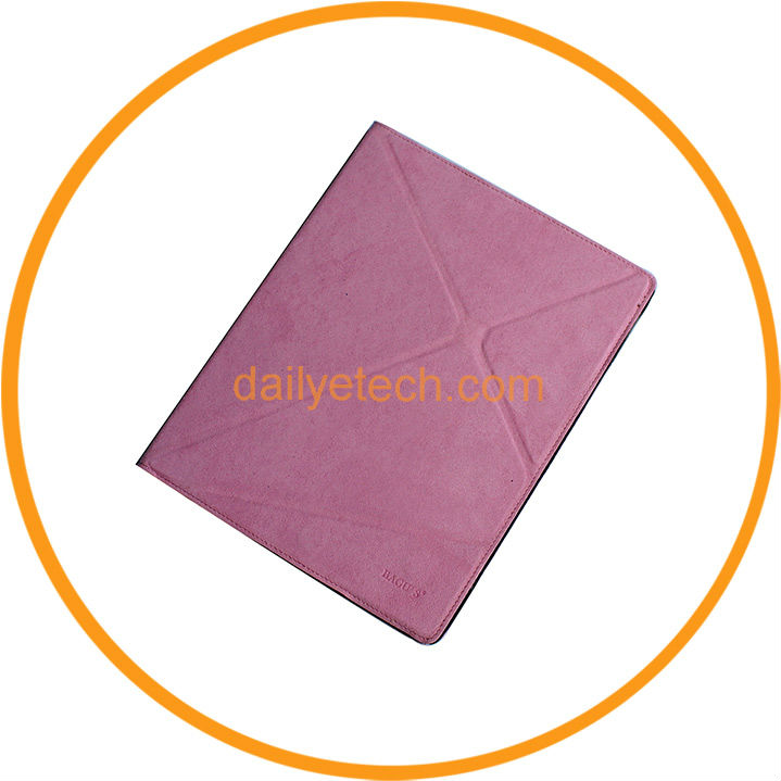 Foldable Stand Rotary Leather Case for iPad 2 Pink from Dailyetech
