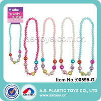 Trendy Pretty 4 style colorful pearl toy newest fashion plastic jewelry toy for girl