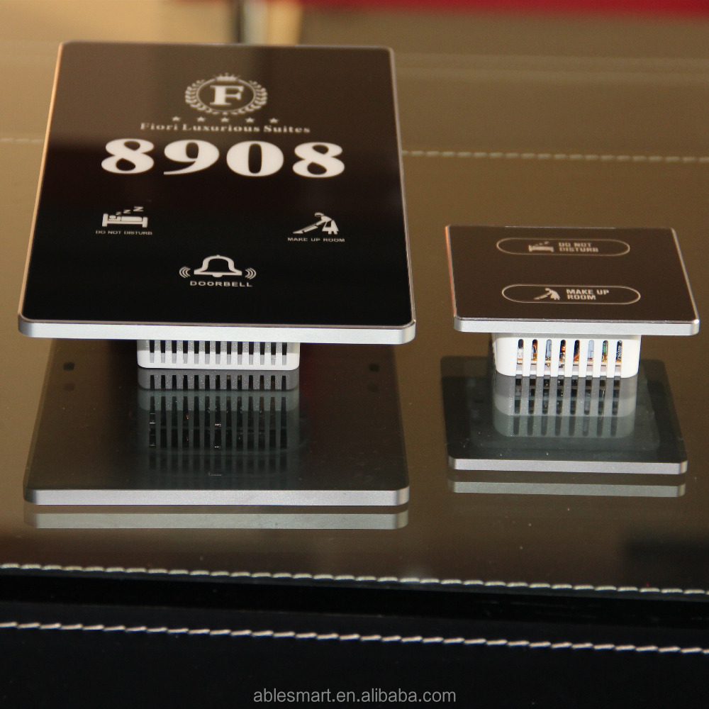 OEM&ODM luxury electronic hotel room door number plate with touch doorbell