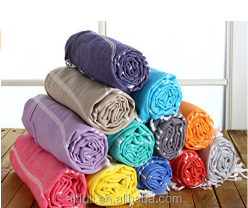 China Top Ten Selling Products Cheap Good Quality Weave Cotton Turkish Towel Peshtemal