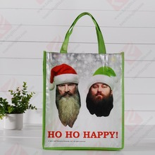 wholesale foldable shopping bag/recycled polyester bag/custom poly bag