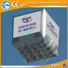 Custom made advertising helium balloons, inflatable helium cube balloon for sale
