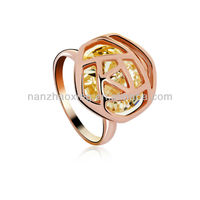 OUXI 18k gold finger ring rings design for women with price