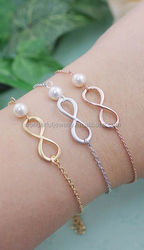 The low price Infinity Charm with Europe Nature Pearl Bracelet Export to US ,CA For e-Bay's seller chance