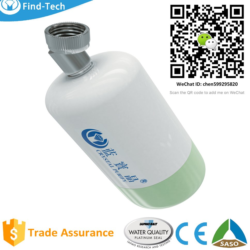 Patent In-Line Bathroom Shower Head Nano-silver Activated Carbon Filter Water Softener High Performance