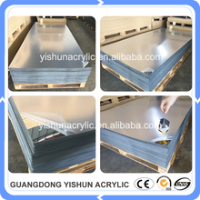 factory supply high glossy reflective silver color mirror acrylic perspex plastic sheet panel custom cut to size