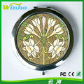 Winho flowers sublimation compact mirror