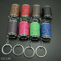 Novel metal colorful coin tube keychain